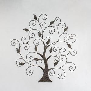 Hnedá dekorácia na stenu Dakls Tree II