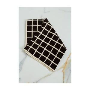 Hnedo-černý bavlnený uterák My Home Plus Spa, 45×70 cm