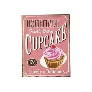 Plechová ceduľa Home Cupcake, 40x31 cm