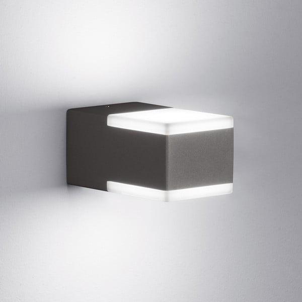 Sivé vonkajšie nástenné svetlo Trio Don, výška 6 cm