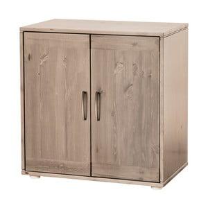 Hnedá detská skrinka z borovicového dreva Flexa Classic