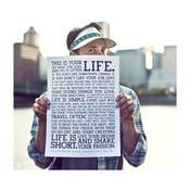 Plagát Manifesto White, 30x41 cm