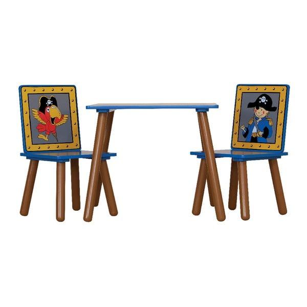 Detský stôl a 2 stoličky Pirates