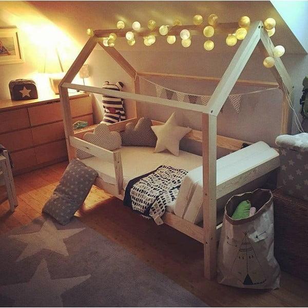Detská biela posteľ s vyvýšenými nohami Benlemi Tery, 90x190cm, výška nôh 20cm