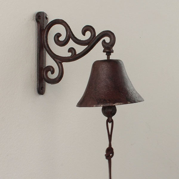 Nástenný liatinový zvonček Bell