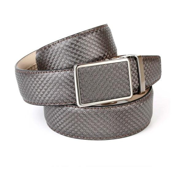 Pánsky kožený opasok 17B70 Grey, 120 cm