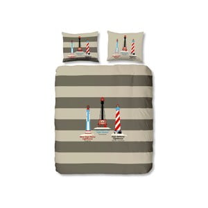 Obliečky Lighthouses Grey, 140x200 cm