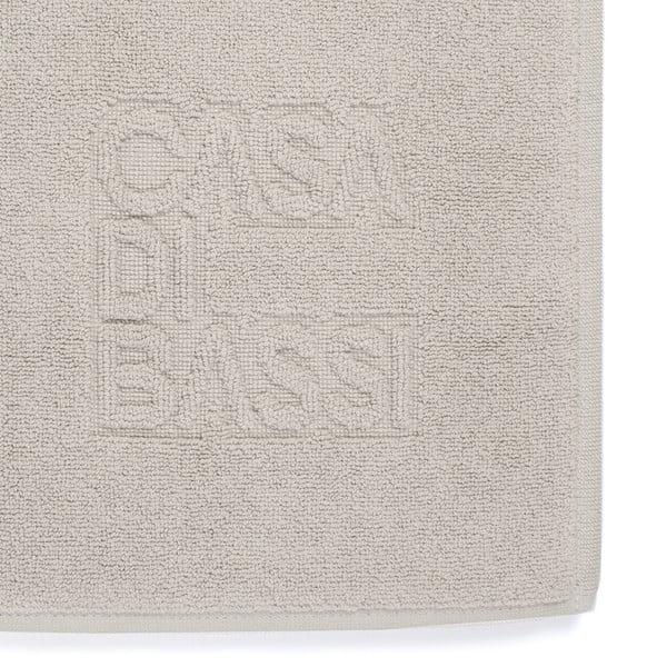 Svetlosivá bavlnená kúpeľňová predložka CasaDiBassi Basic,50x70cm