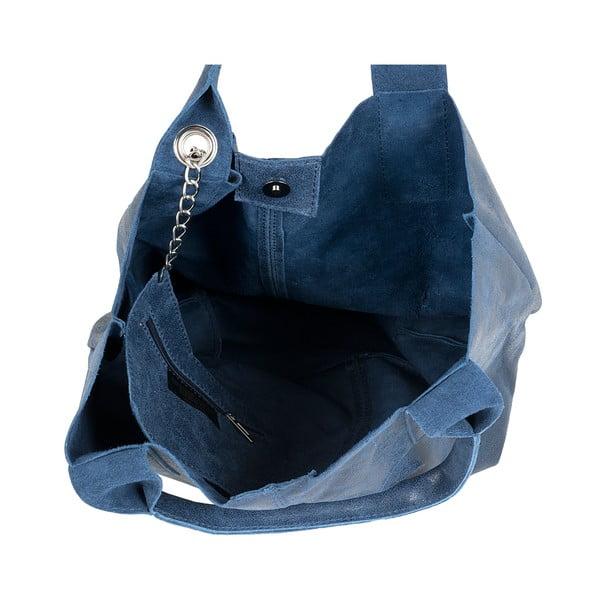 Modrá kožená kabelka Ore Diece Laura