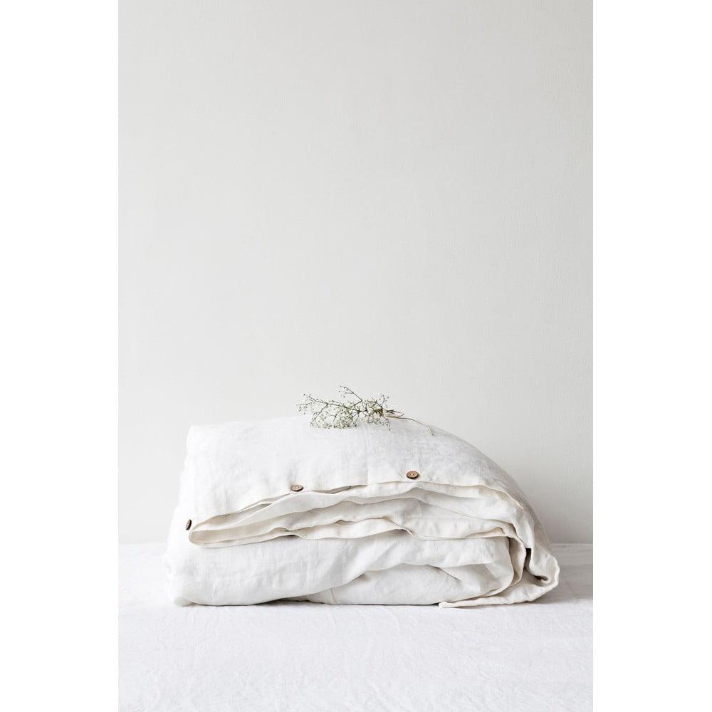 Biela ľanová obliečka na perinu Linen Tales, 200 x 200 cm