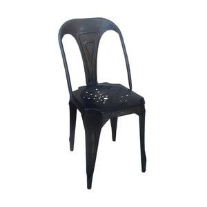 Čierna kovová stolička Antic Line Chaise