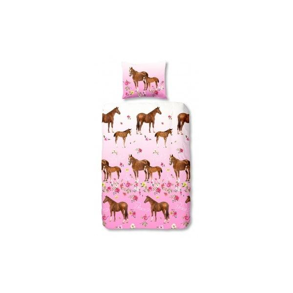 Detské obliečky Horses, 140x200 cm, zapínanie na prehyb