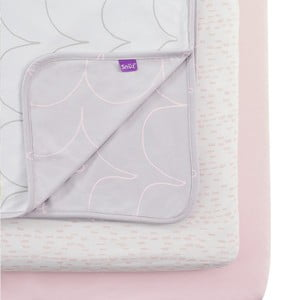 Set deky a 2 plachiet Snüz SnuzPod Wave Rose