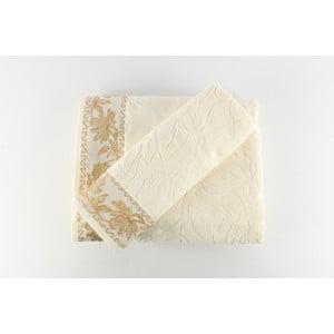 Sada 2 osušiek Asu Cream, 50x90 cm + 90x150 cm