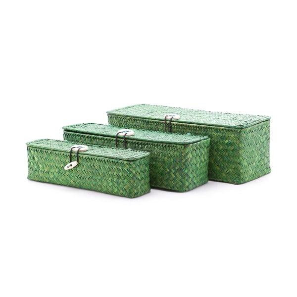 Sada 3 krabíc Seagrass Green