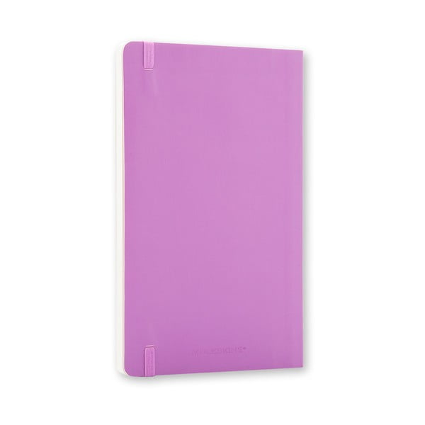 Malý svetlofialový zápisník Moleskine Soft, bezlinajok
