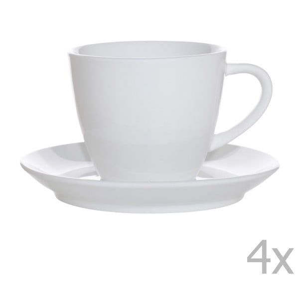 Sada 4 porcelánových šálok s tanierikmi Sola Lunasol, 250 ml