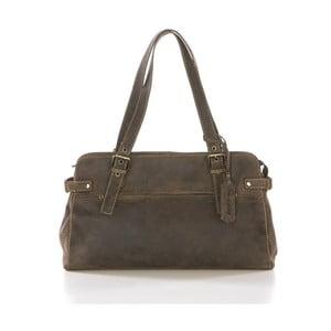 Hnedá kožená kabelka Gianni Conti Evana