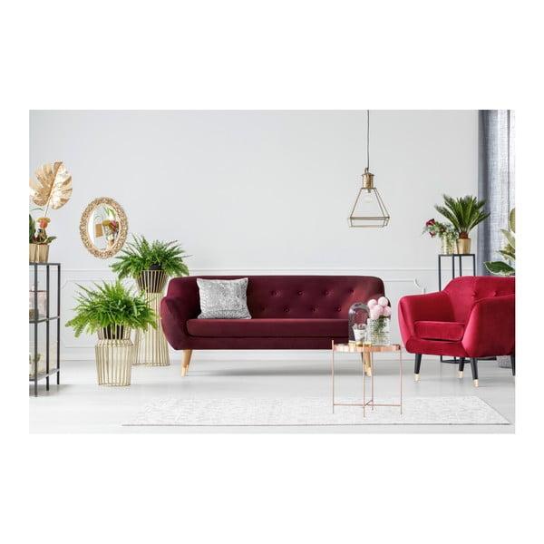 Vínovočervená trojmiestna pohovka Mazzini Sofas Amelie
