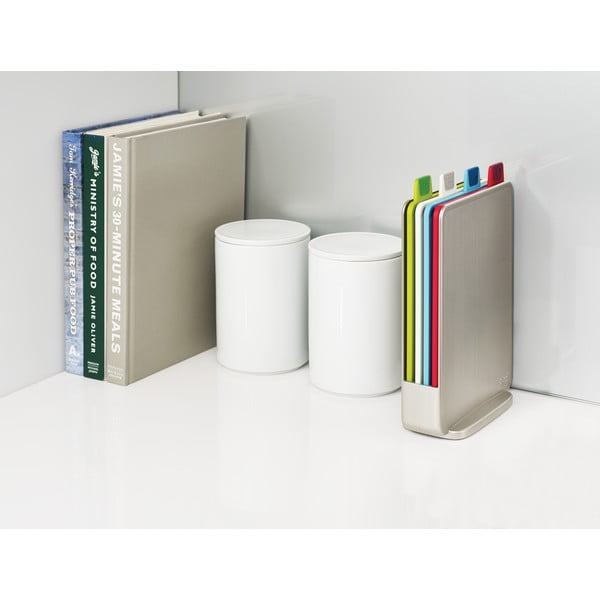 Sada svetlosivého stojana so 4 doštičkami Joseph Joseph Index Index,15x20,5cm
