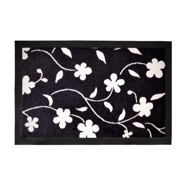 Rohožka Flower Dark, 40x60 cm
