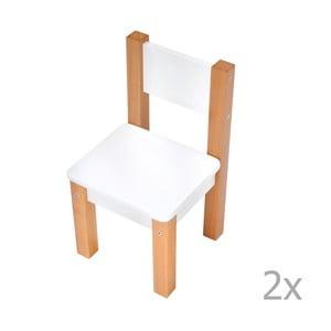Sada 2 bielych detských stoličiek Mobi furniture Mario