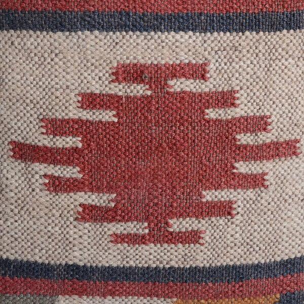 Vankúš s podielom vlny Denzzo Kilim Loba, 45 x 45 cm