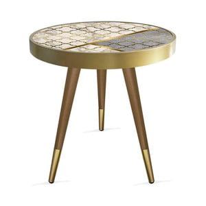 Príručný stolík Rassino Needlecraft Marble Circle, ⌀ 45 cm
