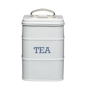 Plechová dóza na čaj Kitchencraft Nostalgia, svetlo sivá