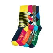 Sada 4 párov unisex ponožiek Funky Steps Dina, veľkosť 39/45