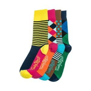 Štyri páry ponožiek Funky Steps Dina, univerzálna veľkosť