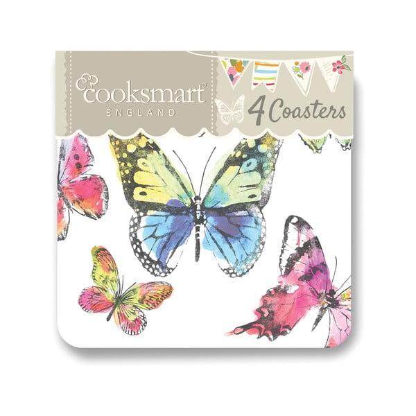 Sada 4 podložiek Cooksmart Butterfly