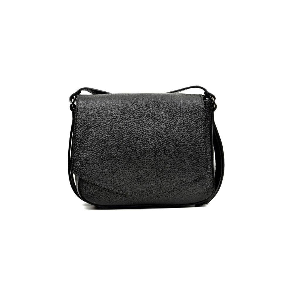 Čierna kožená kabelka Carla Ferreri Metelo