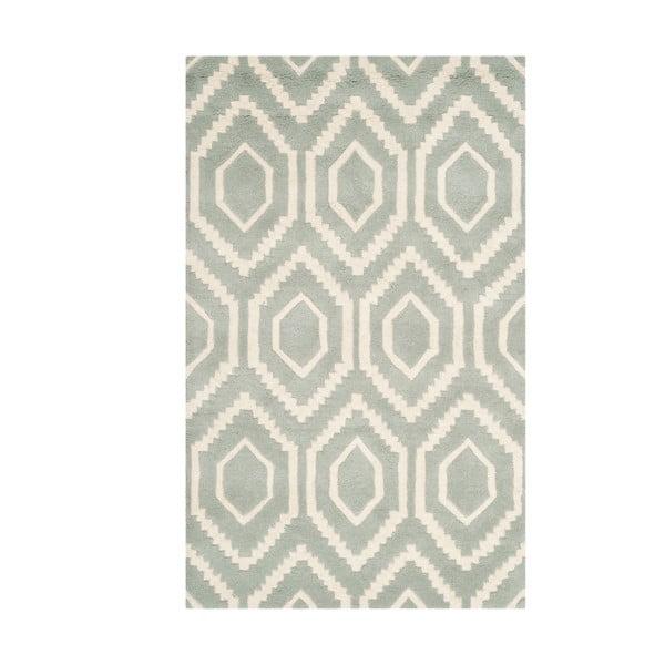Vlnený koberec Safavieh Essex Grey, 91 x 152 cm
