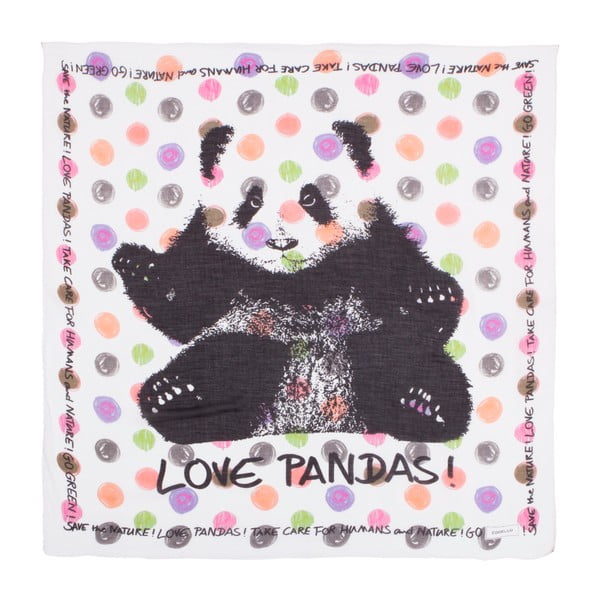 Šatka Codello Take Care Panda White