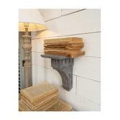 Dekoratívna drevená polica na stenu Grey Antique