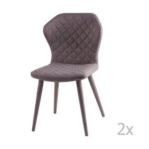 Sada 2 sivých jedálenských stoličiek sømcasa Avery