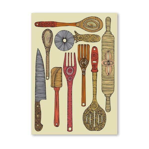 Autorský plagát Let's Cook od Valentiny Ramos