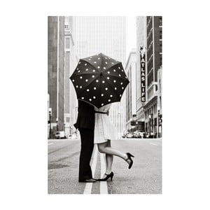 Obraz Black&White Rainy Love, 45 x 70 cm