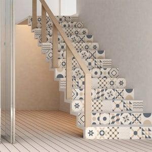 Sada 2 samolepiek na schody Ambiance Stickers Stair Design, 15 x 105 cm