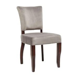 Sivá stolička Kare Design Prince Velvet