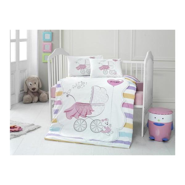 Set bavlnenej detskej obliečky s plachtou Pastel, 100 × 150 cm