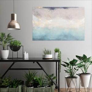 Obraz na plátne OrangeWallz Abstract Blue and White, 70 x 118 cm