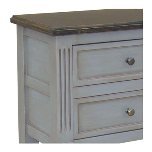 Odkladací stolík so 4 zásuvkami Belgique Grey