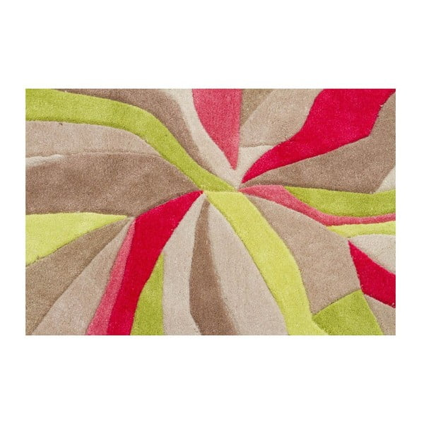Koberec Splinter Pink Green, 80x150 cm