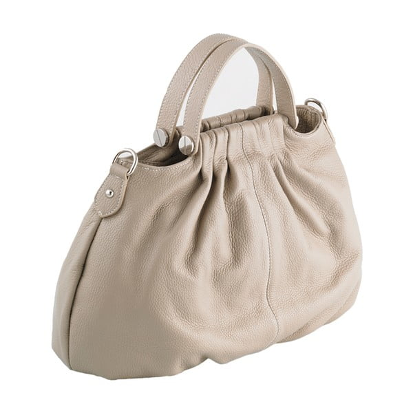Kožená kabelka Andrea Cardone 934 Beige