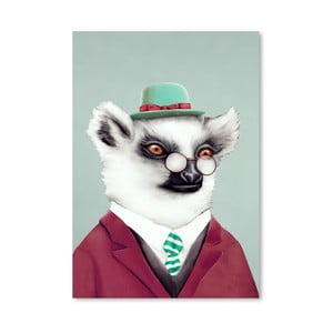 Plagát Lemur, 30x42 cm