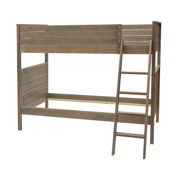 Tmavá poschodová posteľ Woodman  Woody, 90x200cm