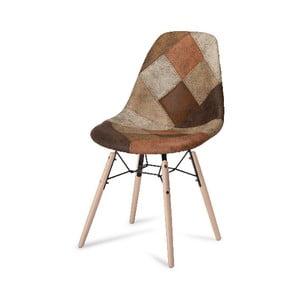 Hnedá jedálenská stolička s nohami z bukového dreva Furnhouse Sun Patch