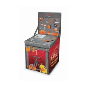 Rozkladací úložný box s hracím stolíkom Domopak Cars